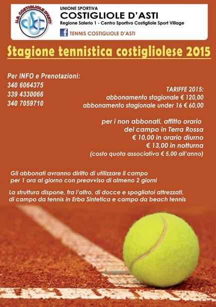 Costigliole AT Stagione tennis 2015