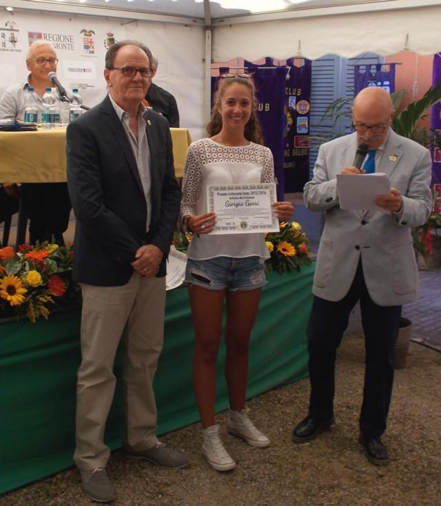 PREMIO LIONS 2016 - premiazione vincitrice Giorgia Garri.1